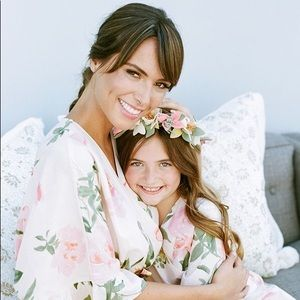Beautiful mother and daughter robes